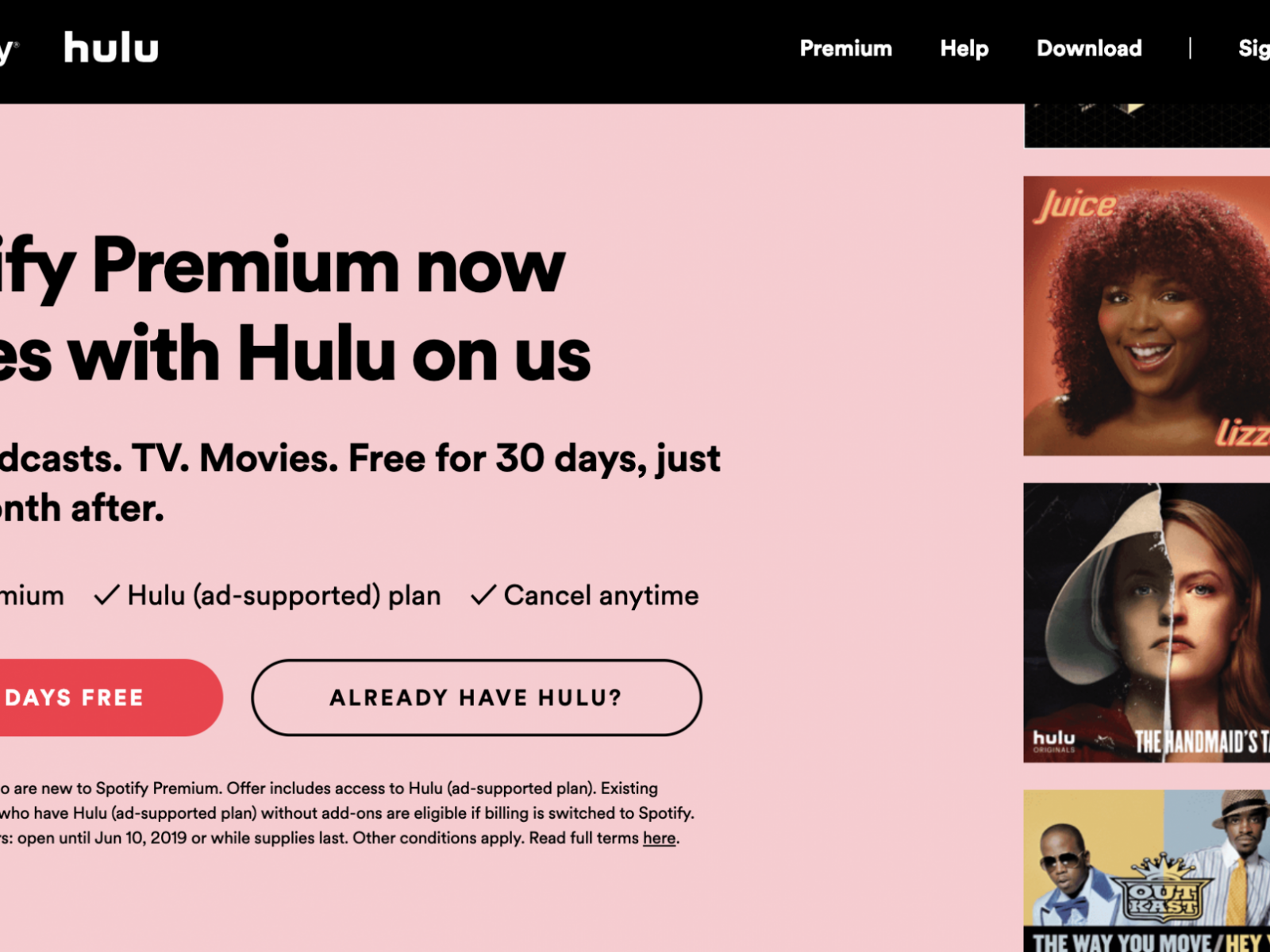 Hulu Spotify Bundle: How to Sign Up for Free Hulu with Premium