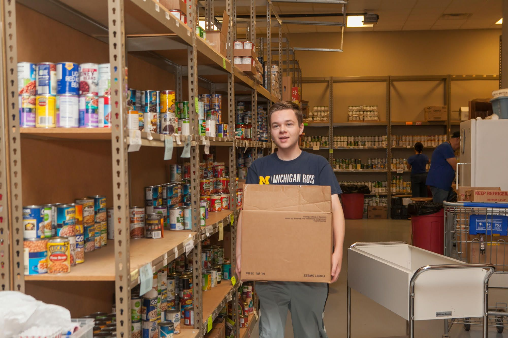 Griffin organizing food pantry in Michigan