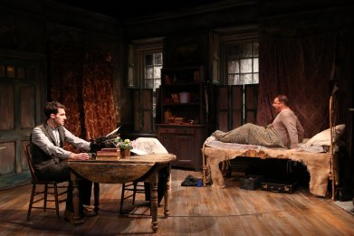 James Russell and Michael Mellamphy in Irish Rep's 2019 production of THE SHADOW OF A GUNMAN - Photo by Carol Rosegg (1)