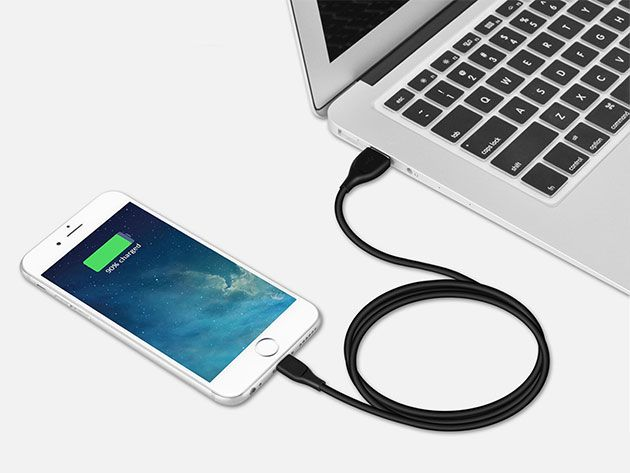 Low Stress Vacations - Syncwire UNBREAKcable (Lightning:Black)