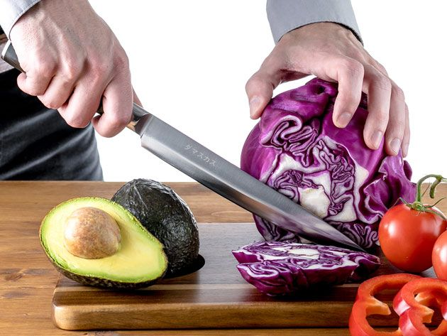Kitchen Deals - Damasukasu Japanese 3-Piece Master Chef Hanshu Knife Set