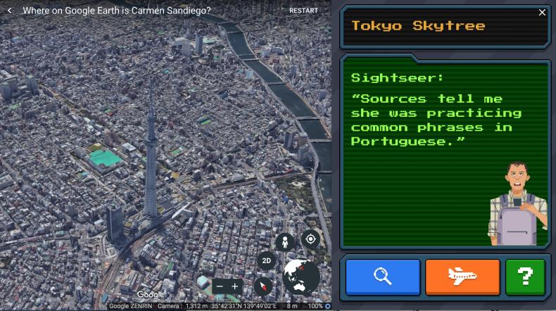 where on google earth is carmen sandiego UI tokyo skytree