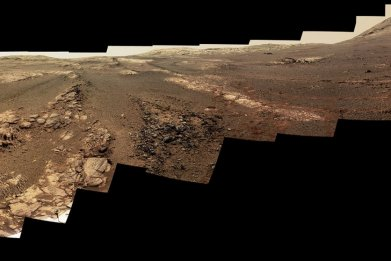 Mars panorama, Opportunity rover, Perseverance Valley