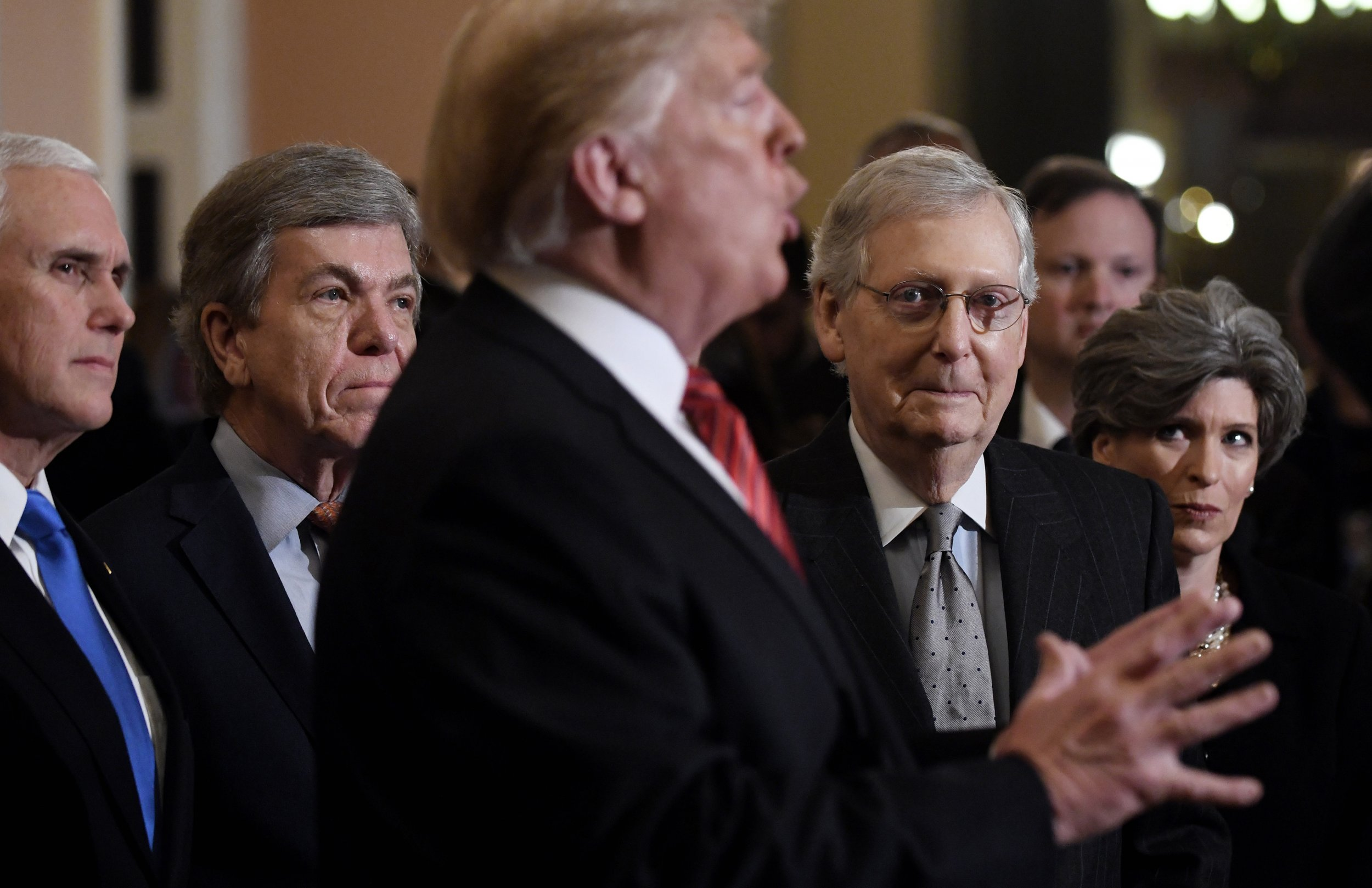 Donald Trump GOP Senate border wall national emergency
