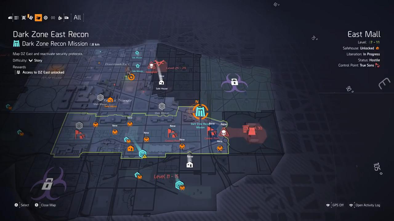 Division 2 dark zone recon map