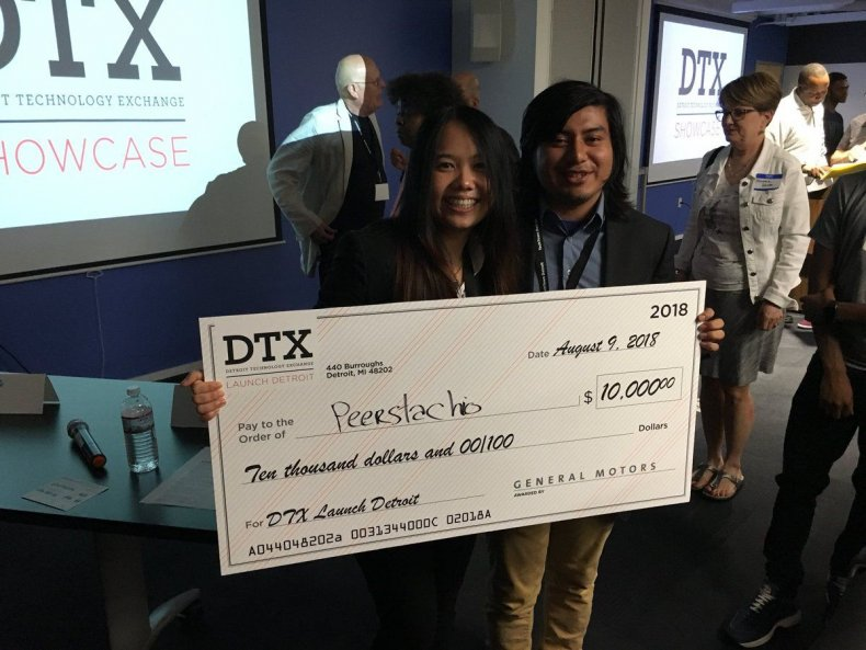 Peerstachio won the grand prize in the DTX Launch Program at TechTown Detroit