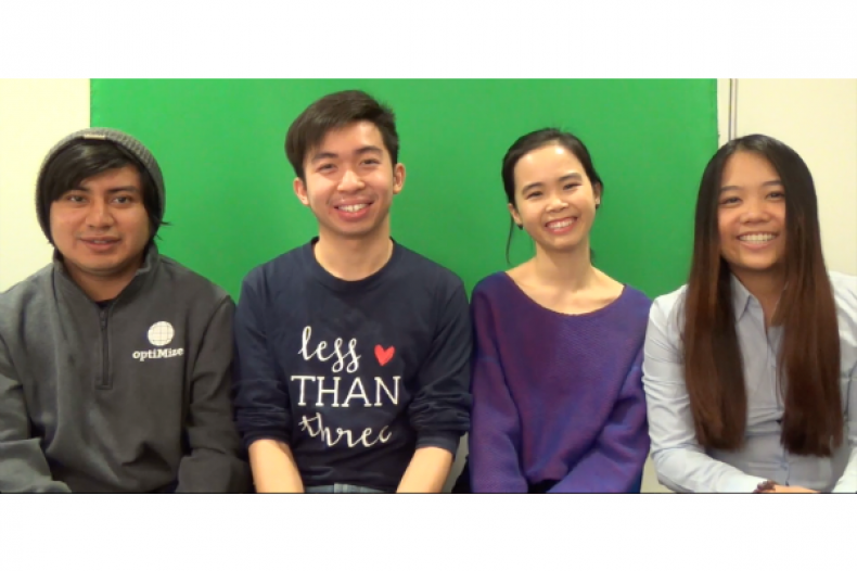 Peerstachio Team From Left: Cristian Guillen (co-founder), Patrick Chong, Huyen Phan, and Scarlett Ong Rui Chern (founder)