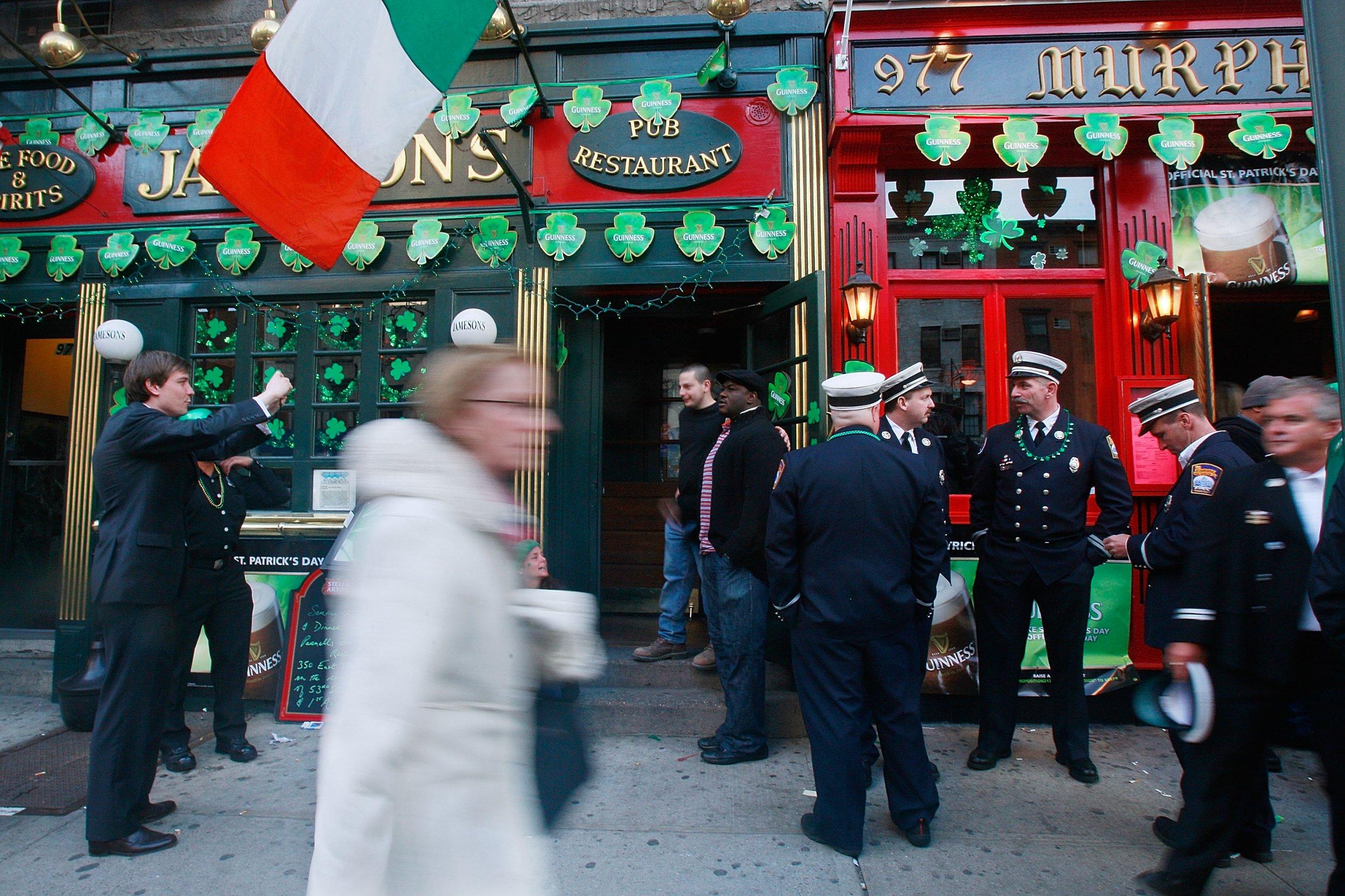 st patricks day in nyc bar