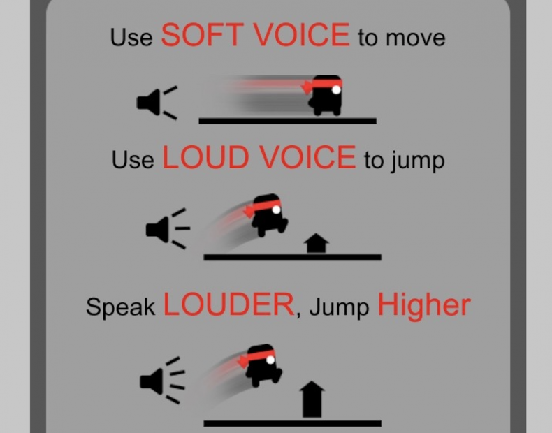 scream to jump game scream go hero soft voice to move loud voice to jump mobile android app download iOS