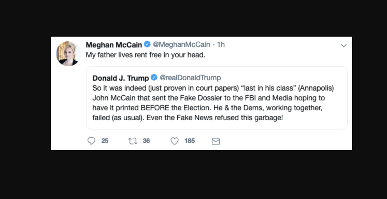 Trump Attacks Late Senator John McCain Over Dossier, Meghan McCain Swipes Back