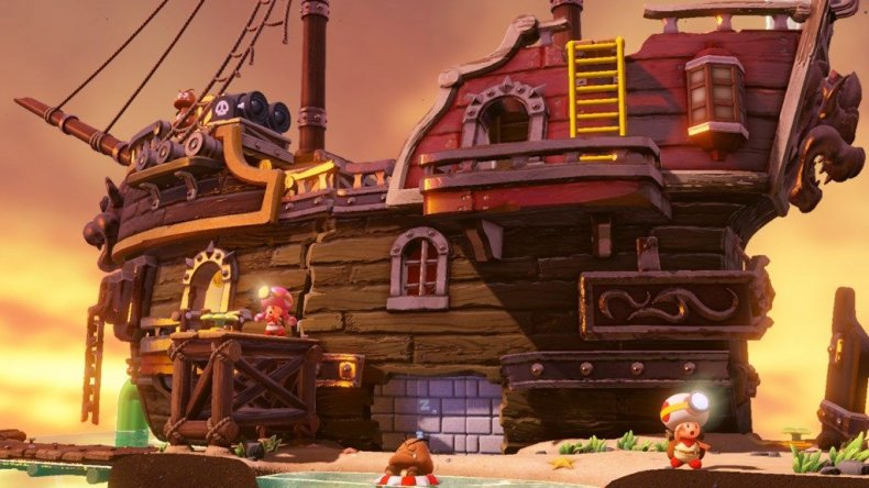 captain toad dlc goomba galleon