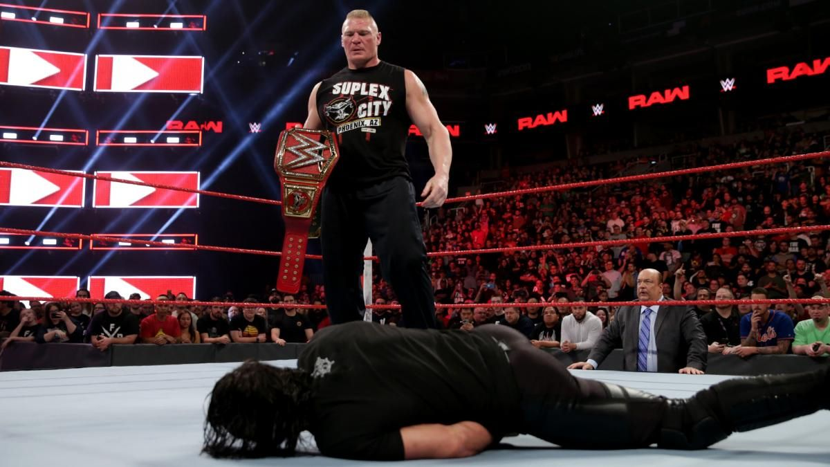 brock lesnar seth rollins wwe monday night raw live results