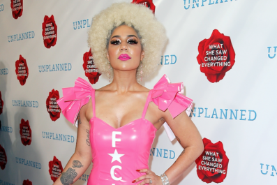 Joy Villa on Anti-Planned Parenthood Dress
