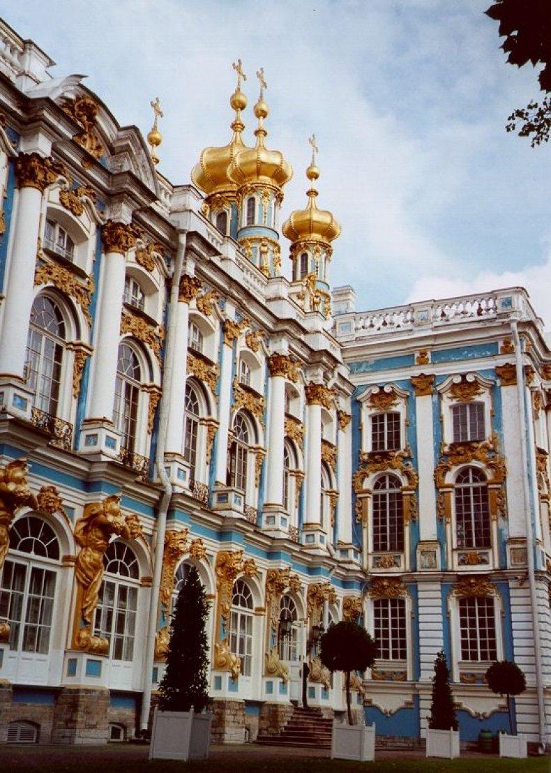 St. Petersburg - palace exterior vertical
