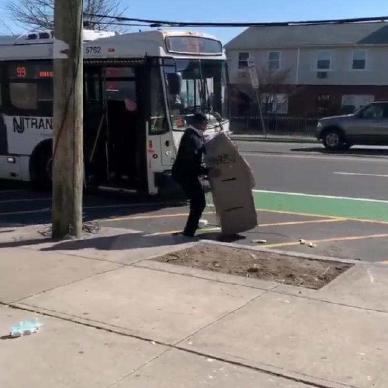 ATM on NJ bus