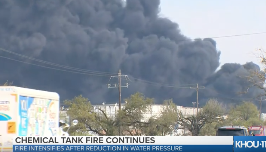Houston Chemical Tank Fire