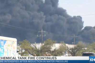 Houston Chemical Tank Fire