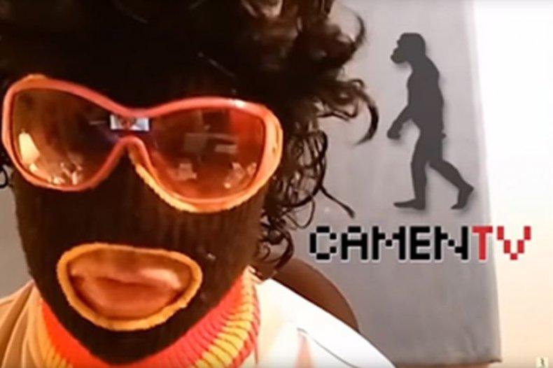 Joey Camen camenTV characters black mask