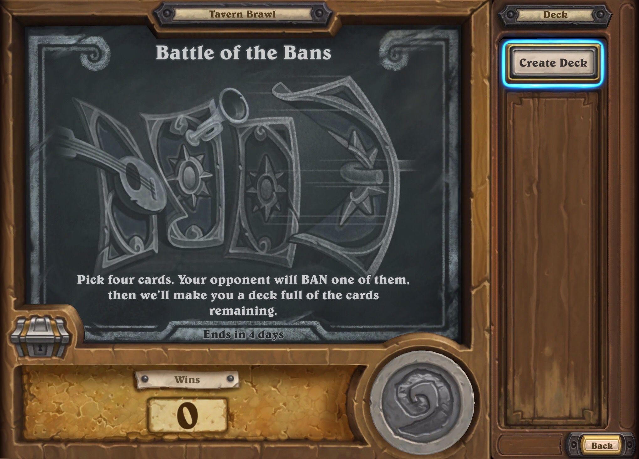 hearthstone tavern brawl battle of the bans guide deck list best class
