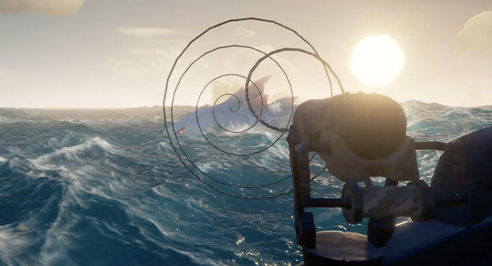 sea of thieves mega update anniversary features harpoon cannon harpooning April 30 release
