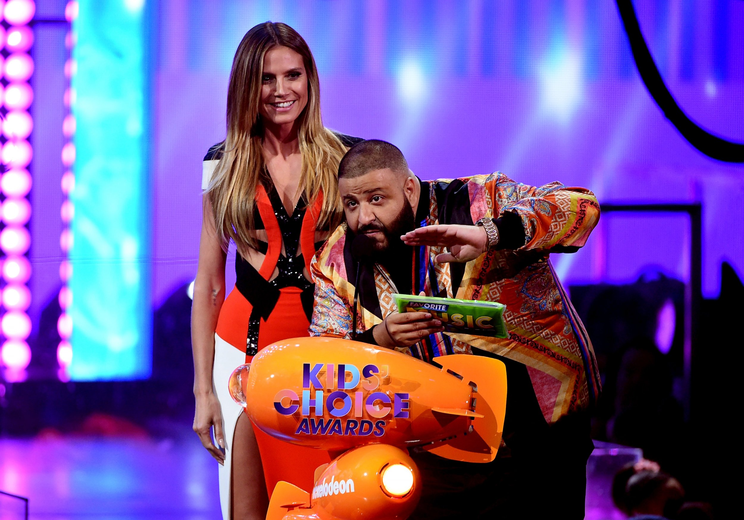 Heidi Klum and DJ Khaled at KCAs