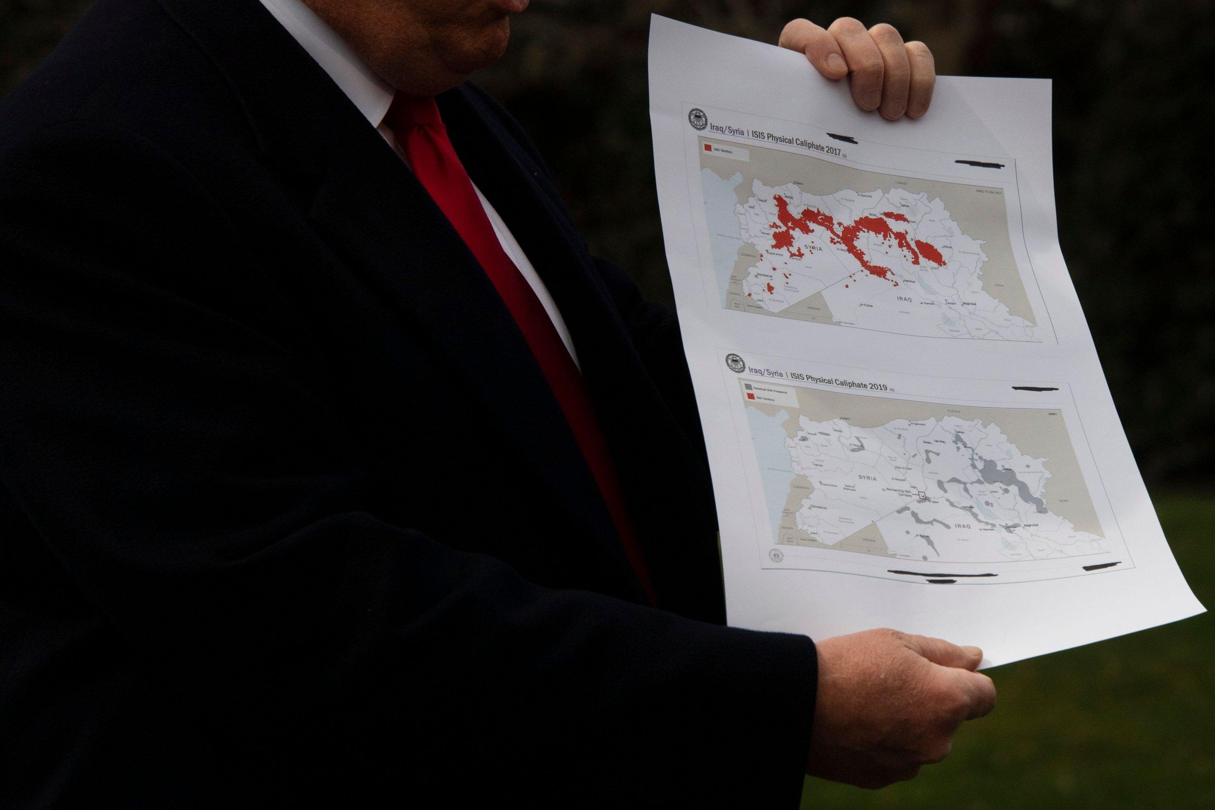 trump syria map tank plant isis