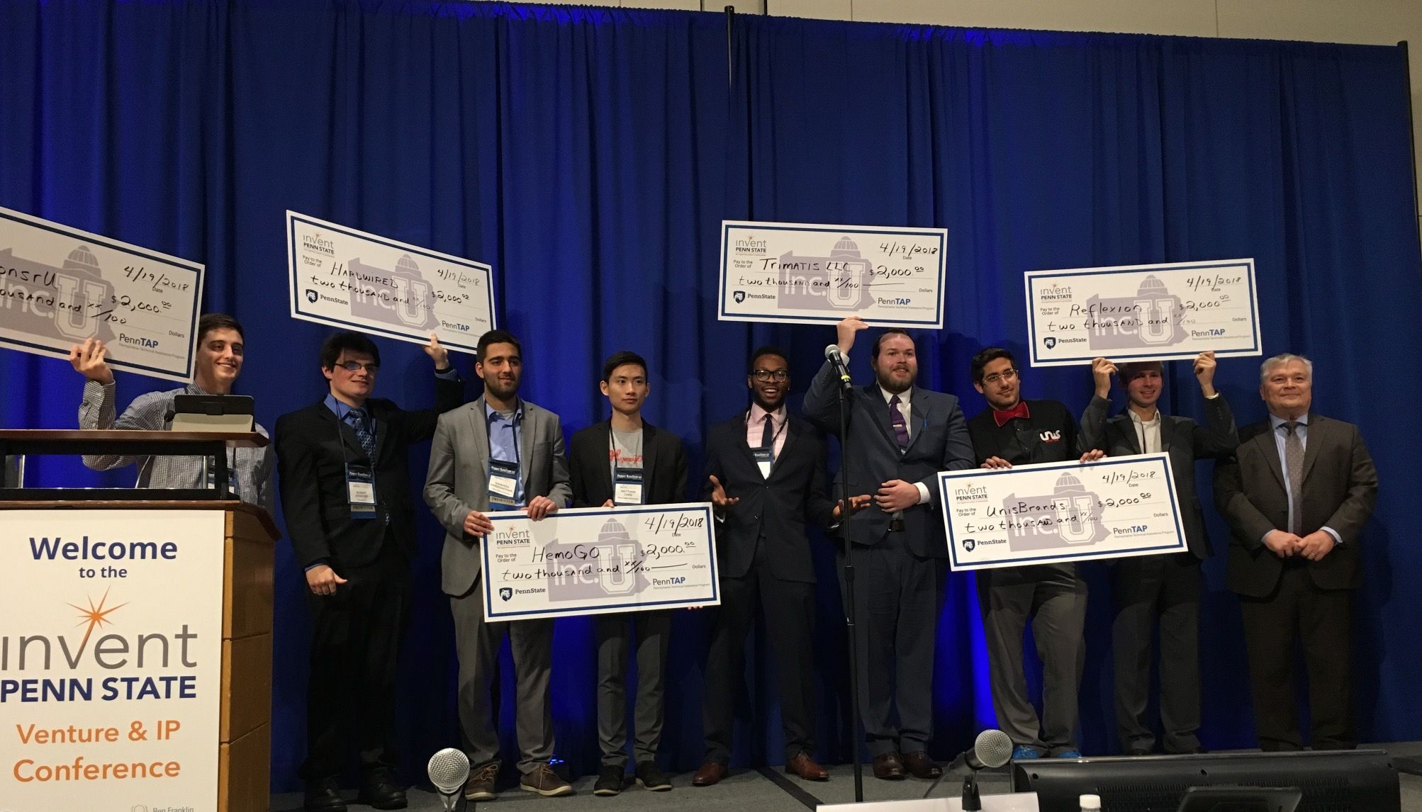 Moichor, formerly known as HemoGo, won a $2,000 prize at the 2018 Penn State Venture and IP Conference