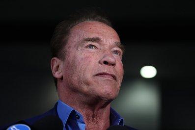 Arnold Schwarzenegger Chases Pony