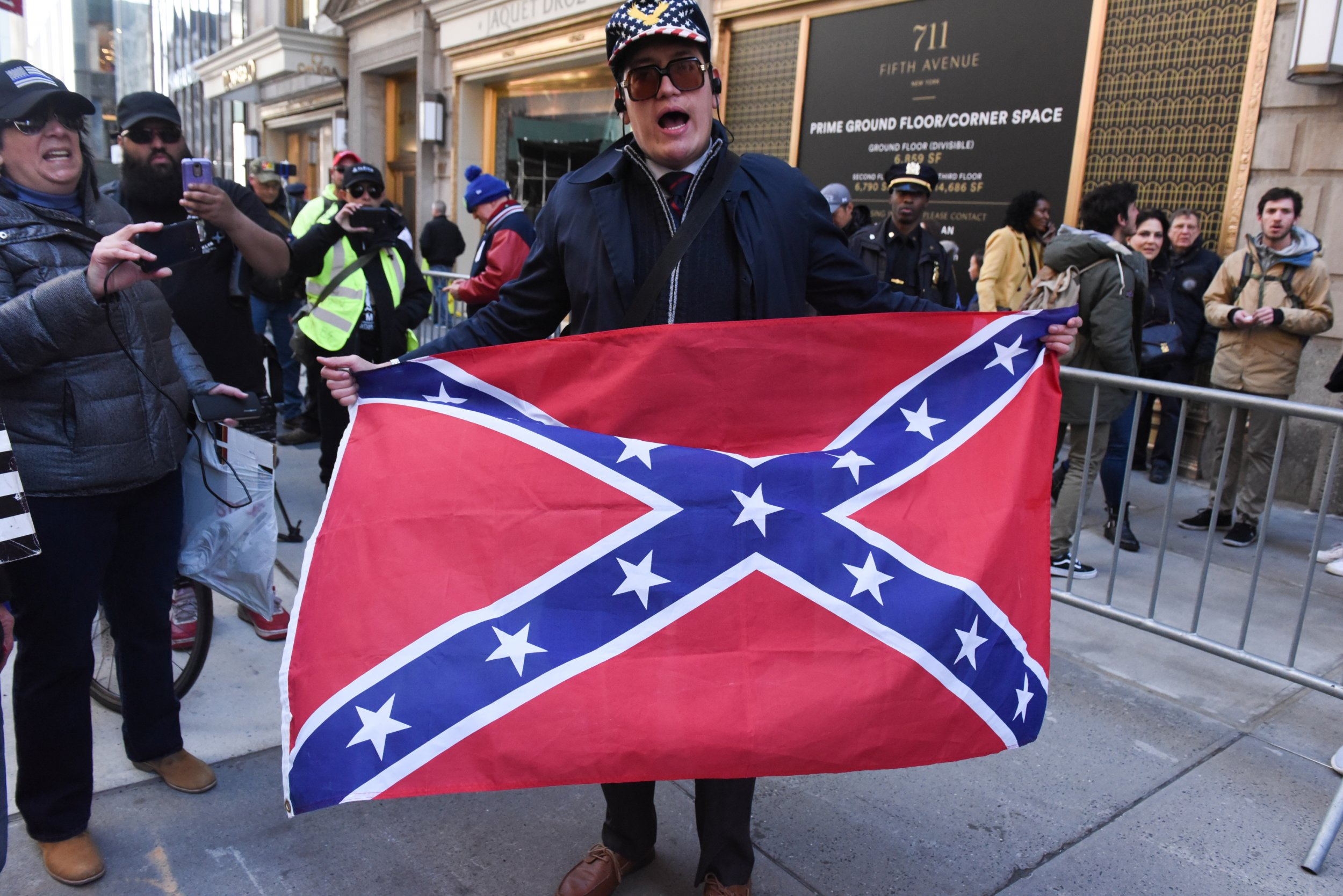 trump tower confederate flag