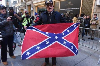 trump tower confederate flag
