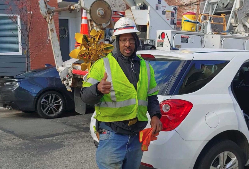Verizon worker Maurice German