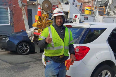 Verizon worker Maurice German