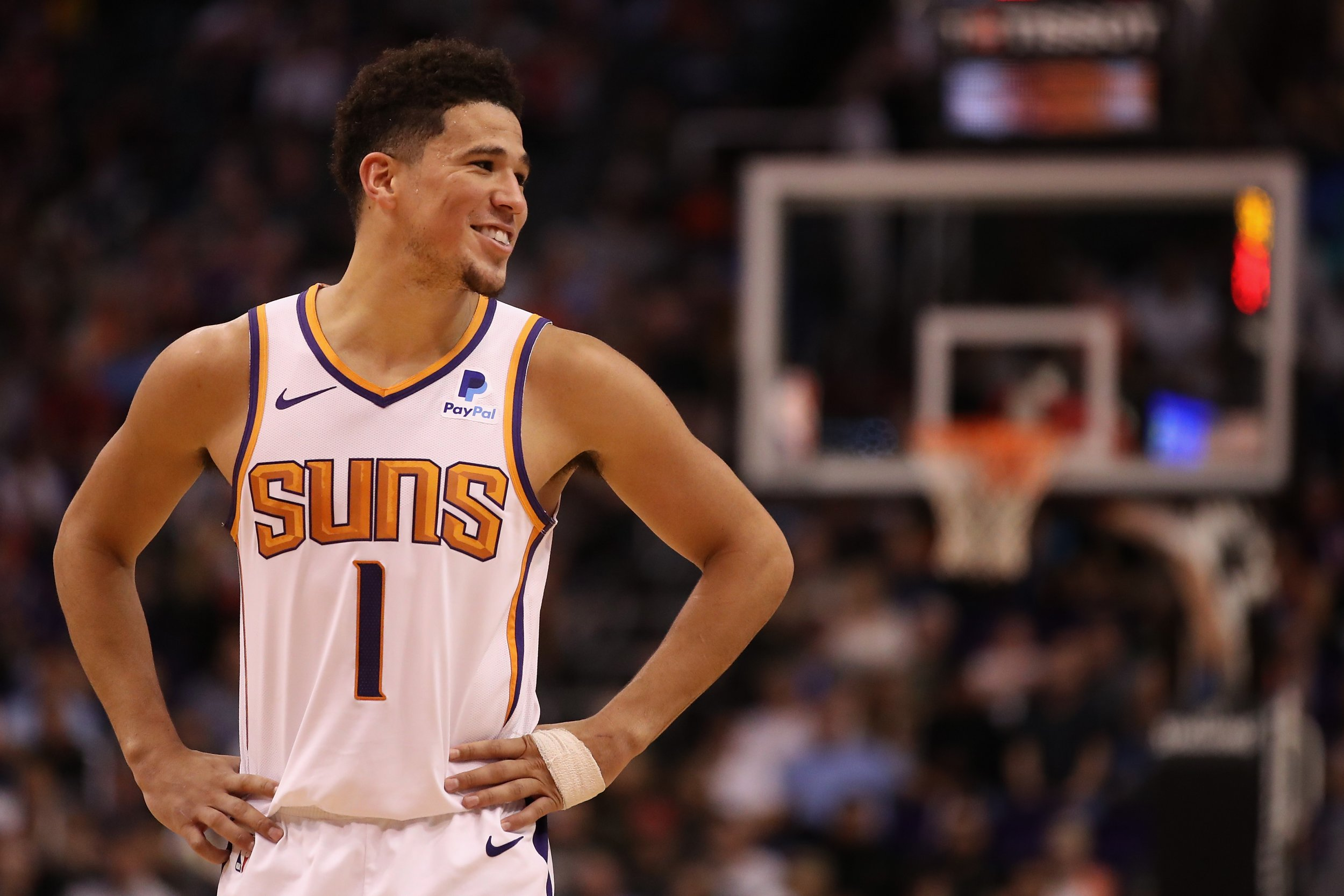 newest 1dbe8 8e6bd Devin Booker Makes NBA History With 59 Points in Loss Vs. Utah Jazz