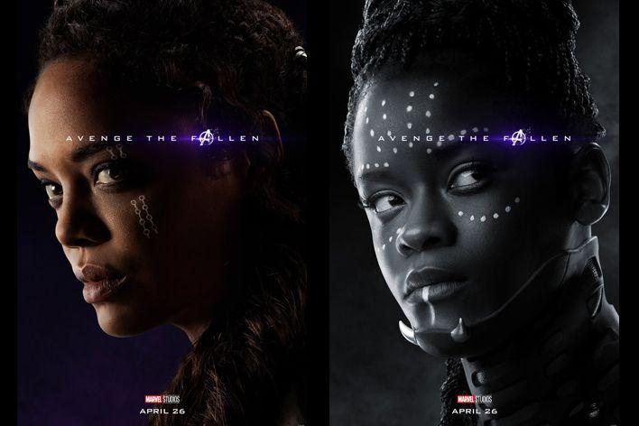avengers endgame valkyrie shuri posters