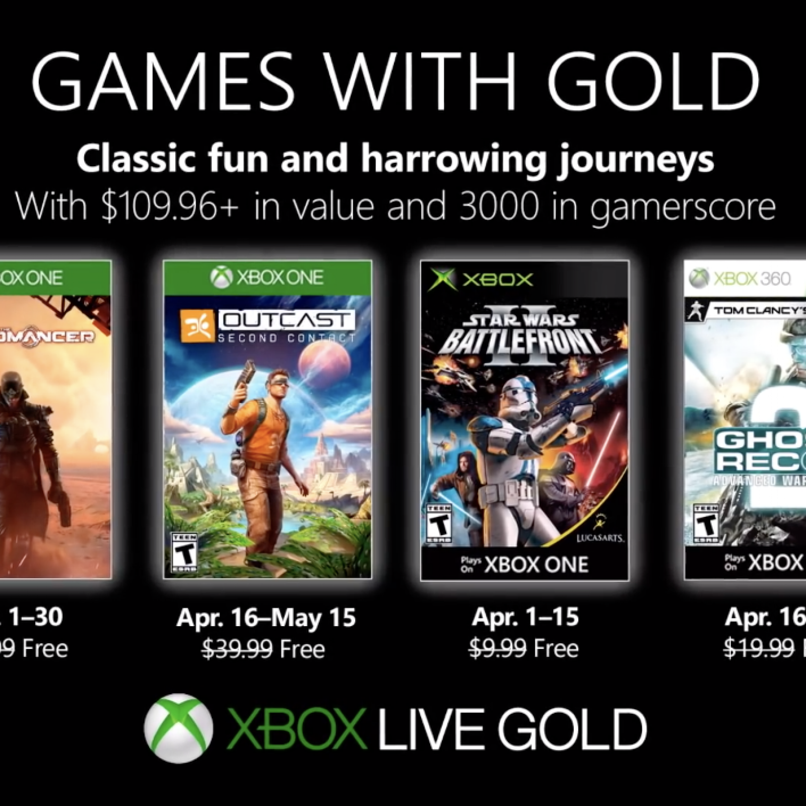Xbox Games with Gold: April 2019 Free Games Include Technomancer and