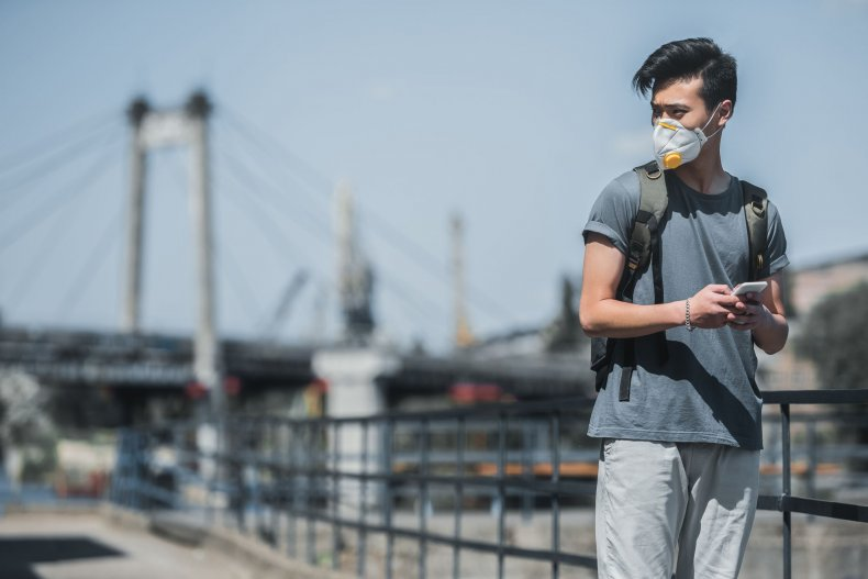 air pollution city teenager getty stock