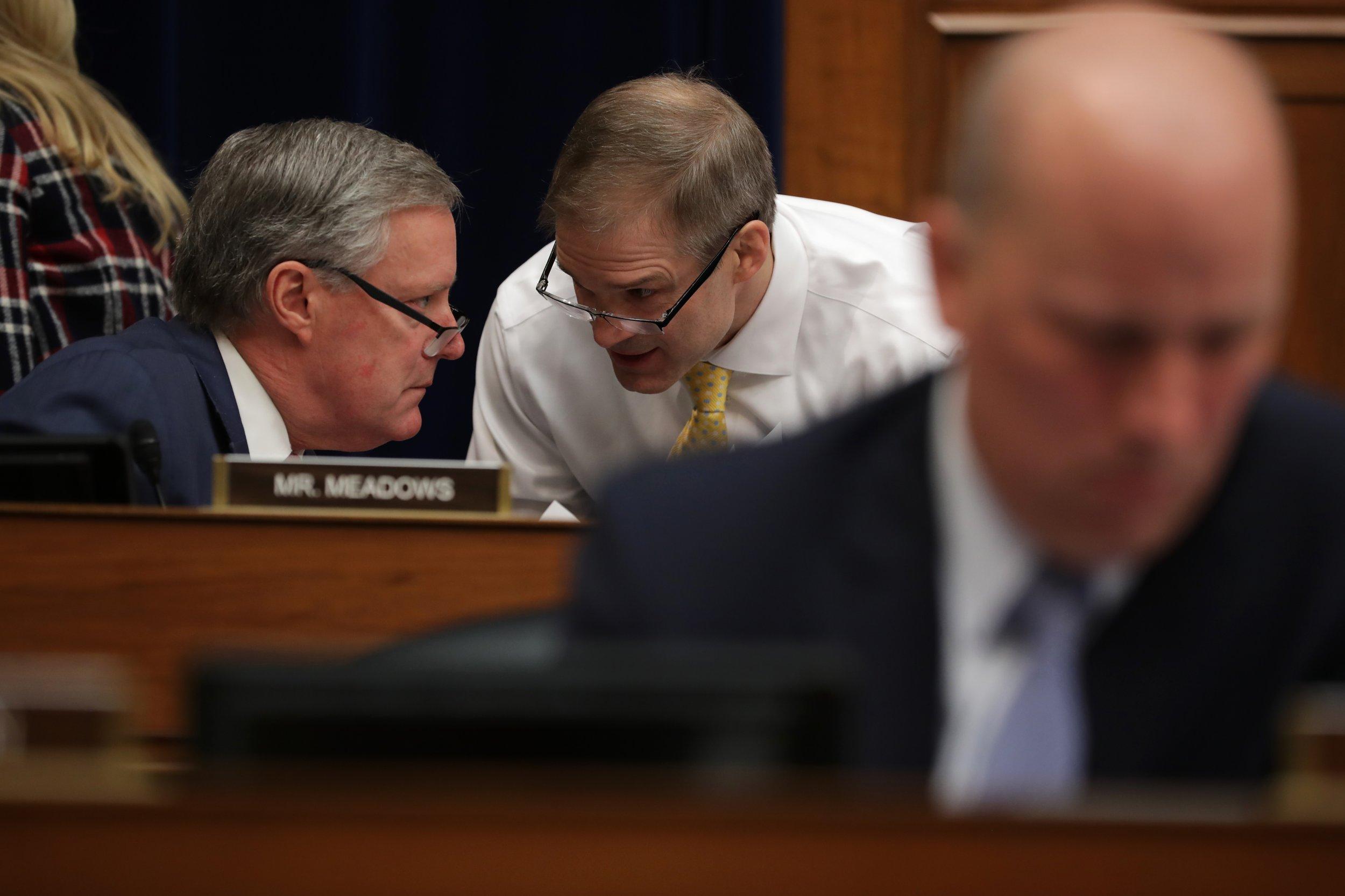 Jim Jordan, Mark Meadows, Elijah Cummings, Trump finances