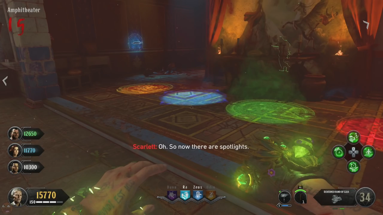 Black Ops 4 ancient evil easter egg 51 colored circles