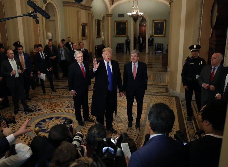 Donald Trump, victory lap, Capitol Hill