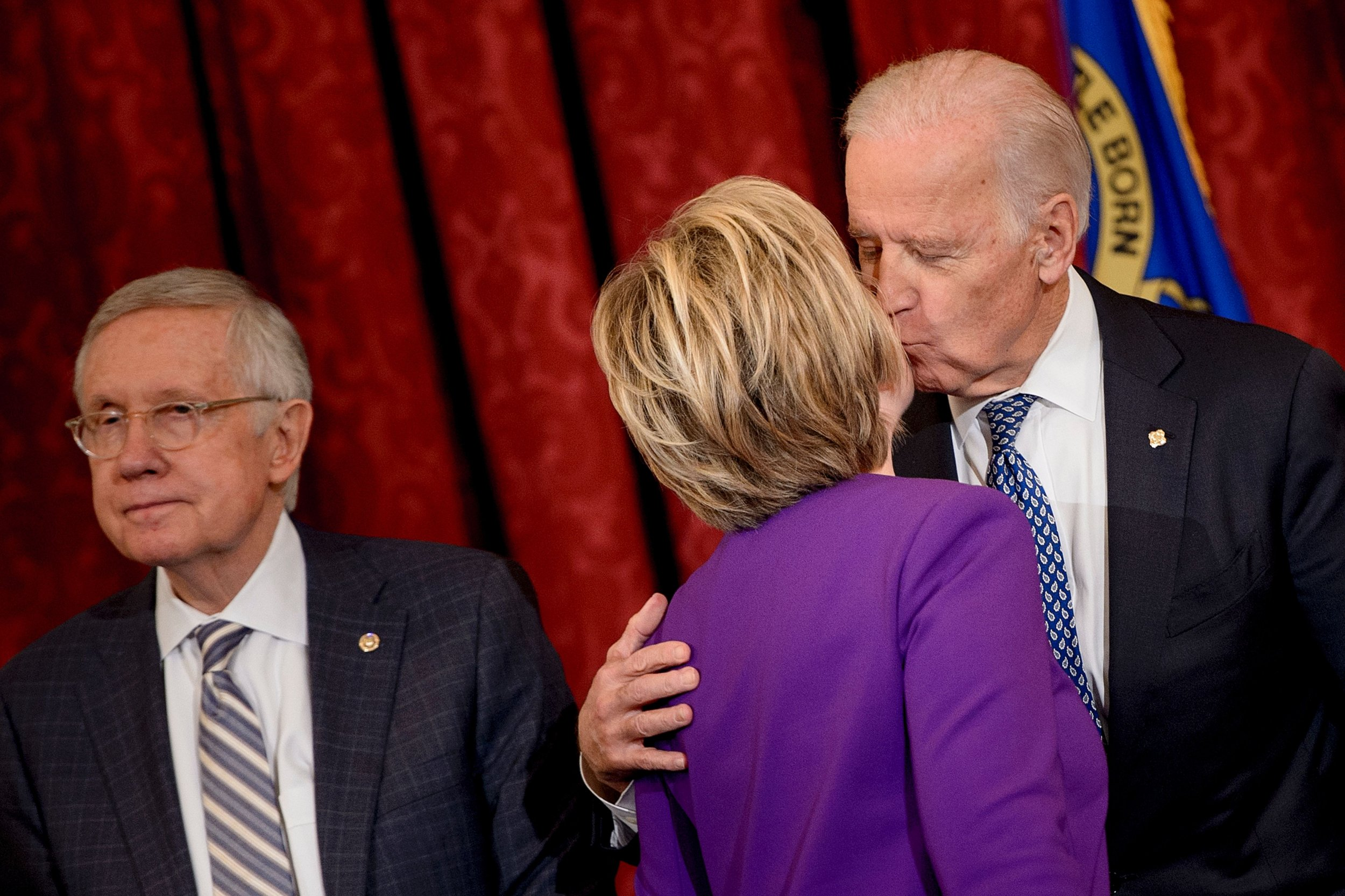 Joe Biden Accused Of Unwanted Kiss From Behind During Campaign Event While Vice President-2937