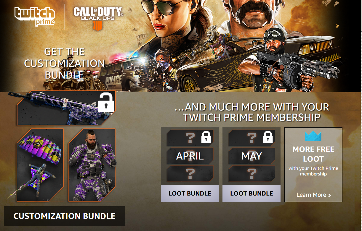 Black Ops 4 Twitch Prime Loot