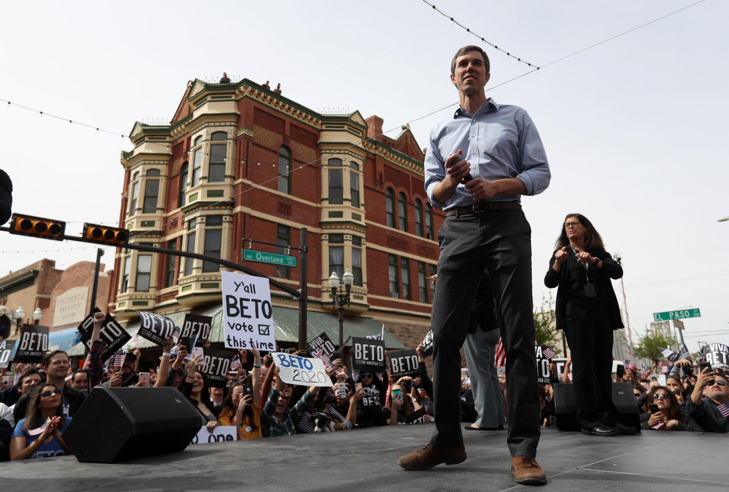 Beto O'Rourke, Trump, campaign kickoff