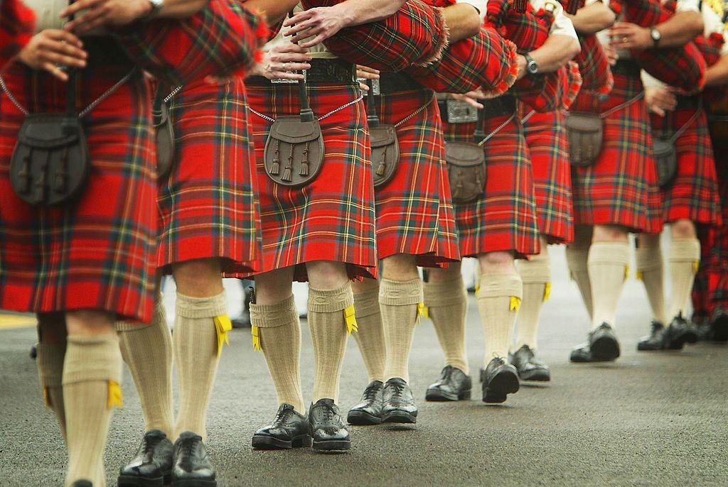 scotland tartan kilt bagpipes