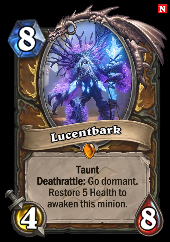 Lucentbark card reveals Druid Legendary Rise of Shadows exclusive