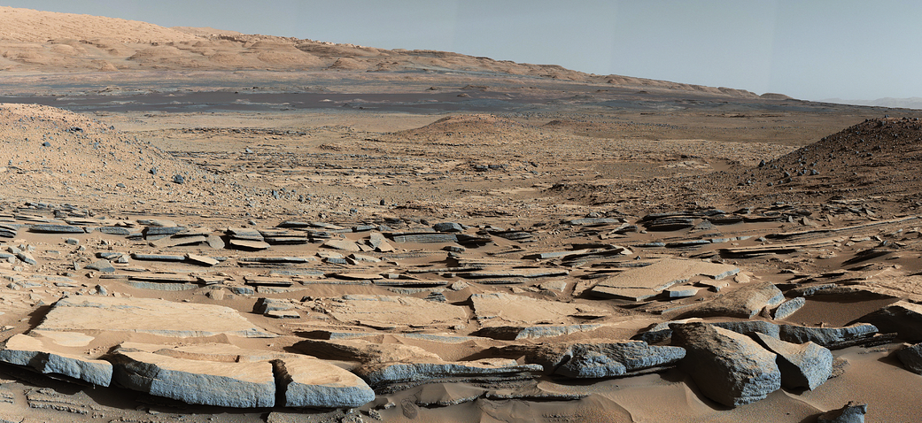 Gale Crater Mount Sharp Mars