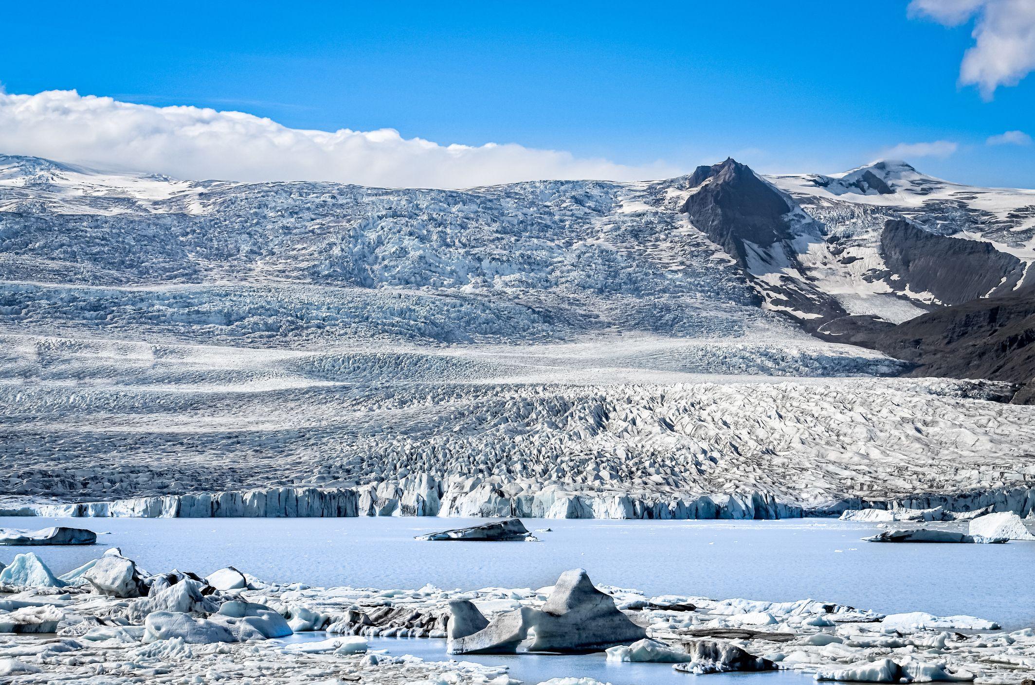 Breiðamerkurjökull glacier, Jökulsárlón lagoon