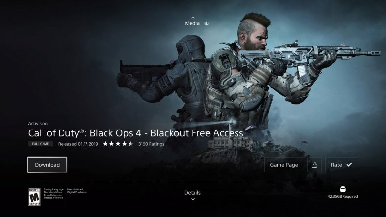 Black Ops 4 Blackout free access