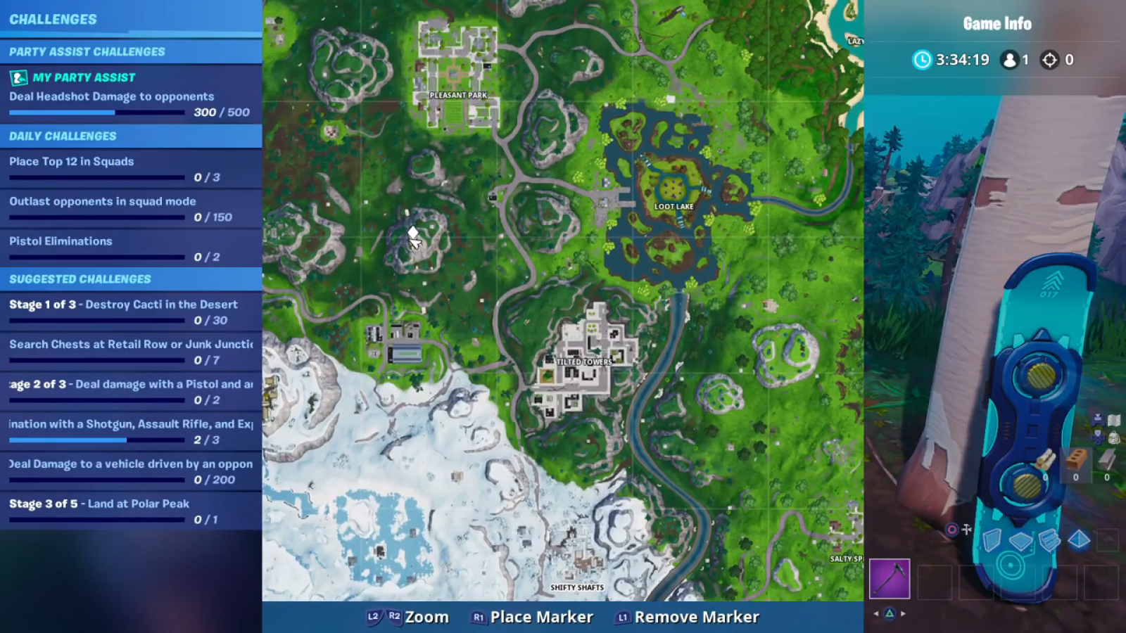 Fortnite Search Knife Treasure Map Location Highest Elevations