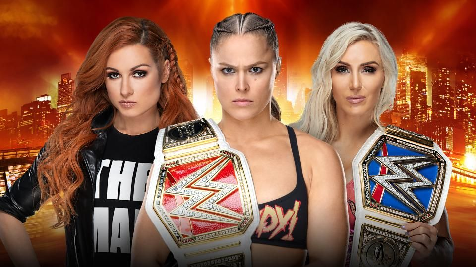 becky lynch vs ronda rousey vs charlotte flair wrestlemania 35