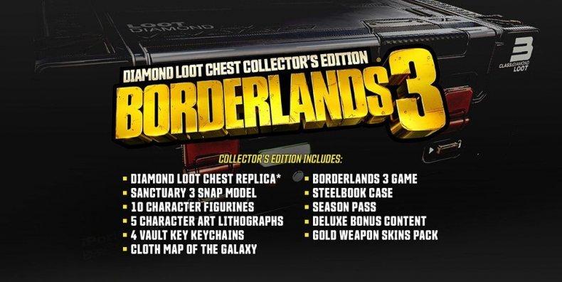 Borderlands, 3, pre, order, release, diamond, loot, chest, deluxe, collectors, edition, 2k, gamestop, gearbox, where to buy